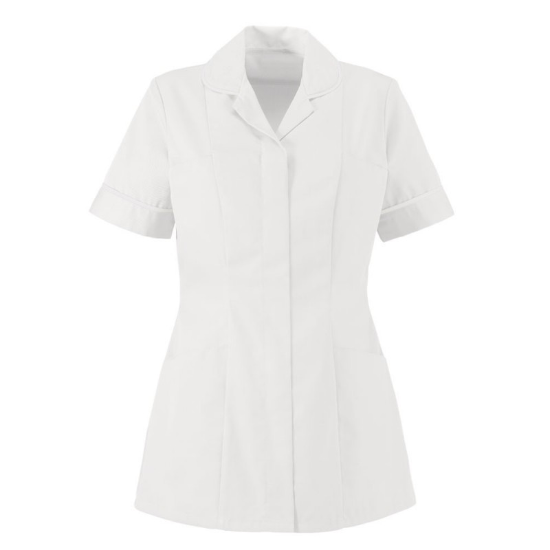 Women's Lightweight Tunic (White With White Trim) NF48