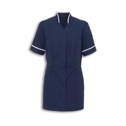 Women's Mandarin Collar Tunic (Sailor Navy with White Trim) - NF20