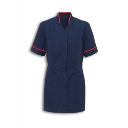 Women's Mandarin Collar Tunic (Sailor Navy with Red Trim) - NF20