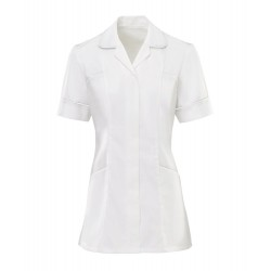 Women's Trim Tunic (White with White Trim) - H212W