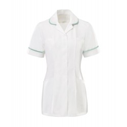 Women's Tunic (White with Aqua Trim) - HP369W