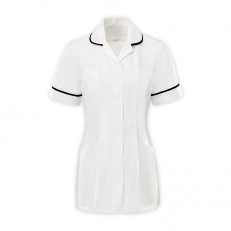 Women's Tunic (White With Black Trim) - HP369W
