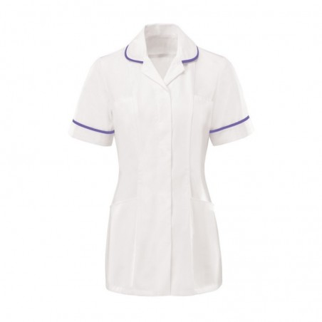 Women's Tunic (White With Purple Trim) - HP369W