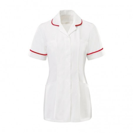 Women's Tunic (White With Red Trim) - HP369W