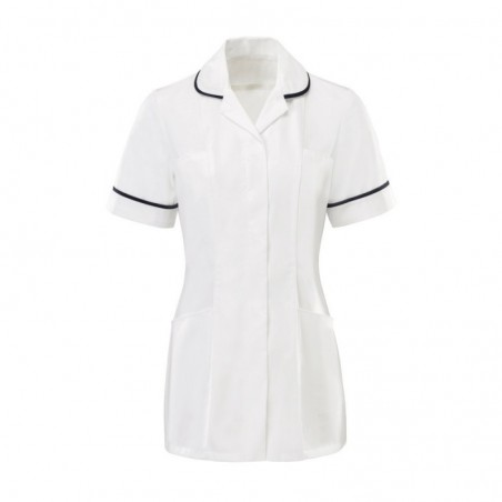 Women's Tunic (White With Sailor Navy Trim) - HP369W