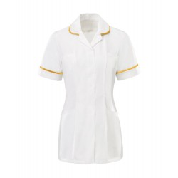 Women's Tunic (White with Yellow Trim) - HP369W