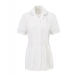 Women's Tunic (White with White Trim) - HP369W