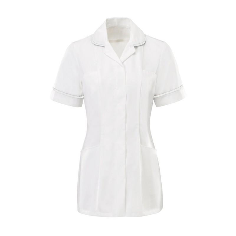 Women's Tunic (White With White Trim) - HP369W
