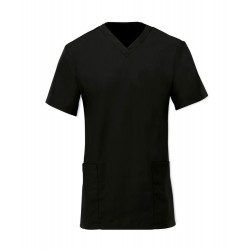 Women's Scrub Tunic (Black) - NF26