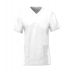 Women's Scrub Tunic (White) - NF26