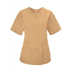 Women's Scrub Tunic (Biscuit) - NF26