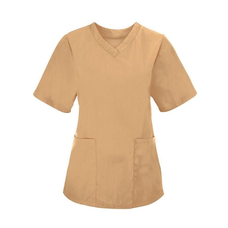 Women's Scrub Tunic (Biscuit) - NF26
