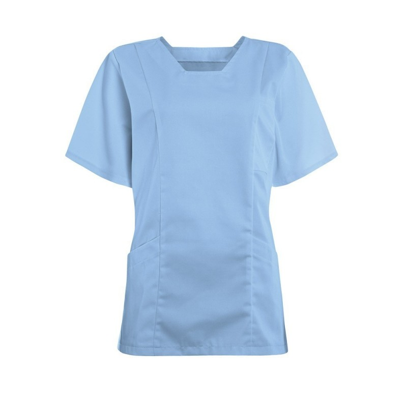 Women's Smart Scrub Tunic (Sky Blue) - FT503