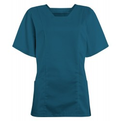 Women's Smart Scrub Tunic (Caribbean Blue) - FT503
