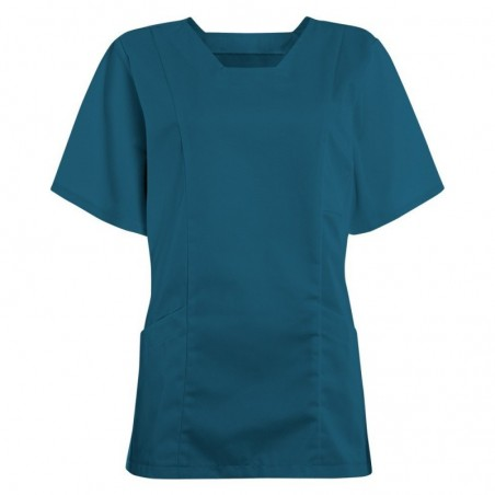Women's Smart Scrub Tunic (Caribbean Blue) - FT503