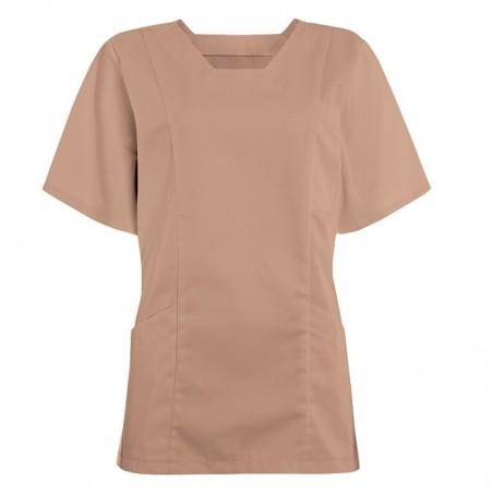 Women's Smart Scrub Tunic (Biscuit) - FT503