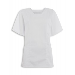 Women's Smart Scrub Tunic (White) - FT503
