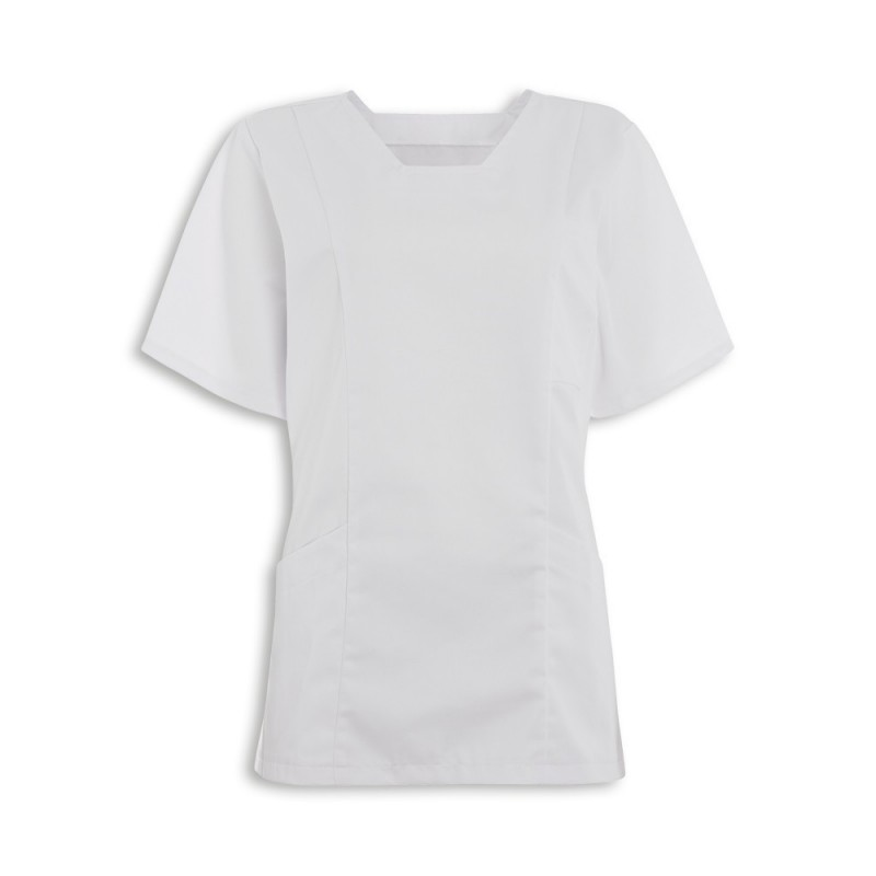 Women's Smart Scrub Tunic (White) - FT503