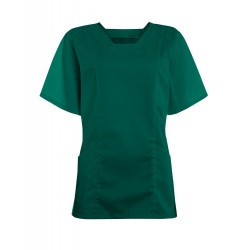 Women's Smart Scrub Tunic (Bottle Green) - FT503
