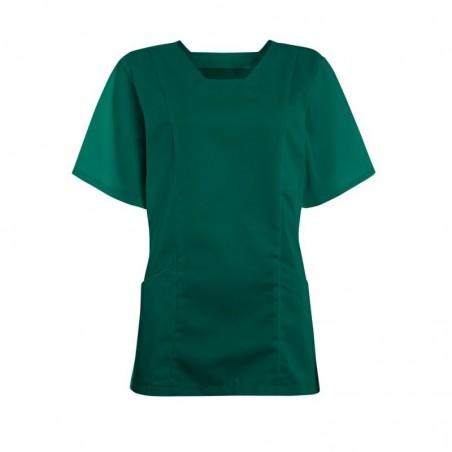 Women's Smart Scrub Tunic (Bottle Green) - FT503