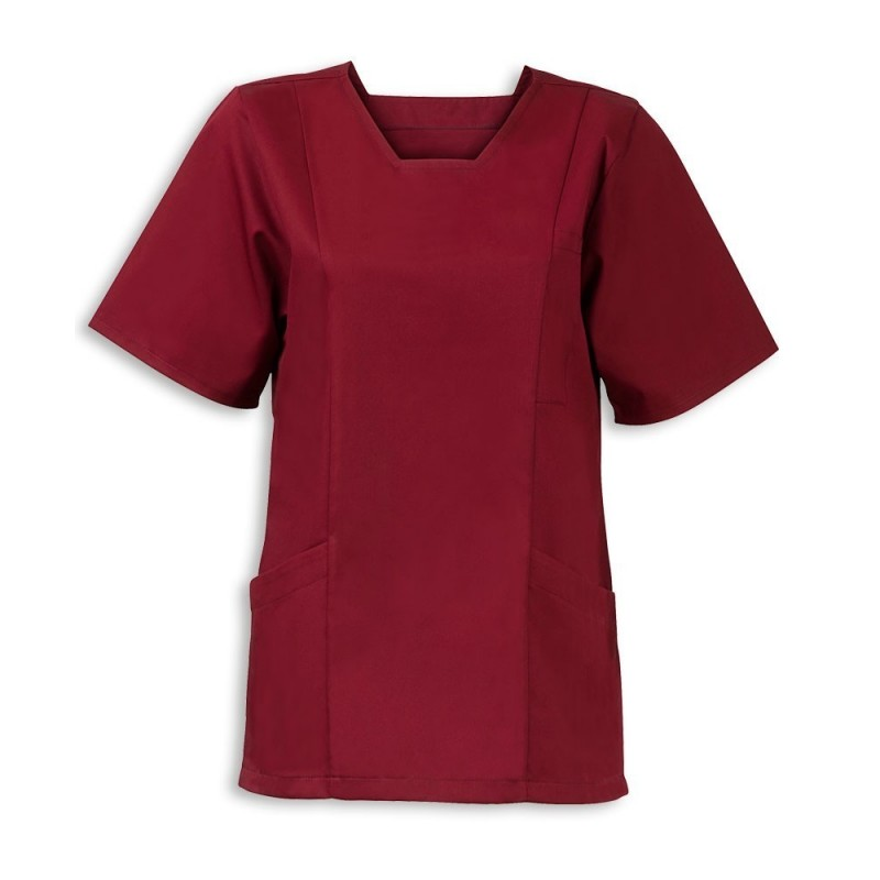 Women's Smart Scrub Tunic (Maroon) - FT503