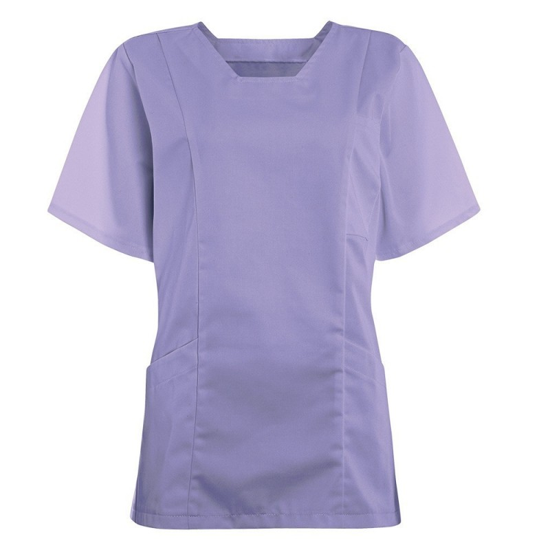 Women's Smart Scrub Tunic (Lilac) - FT503