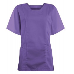 Women's Smart Scrub Tunic (Purple) - FT503