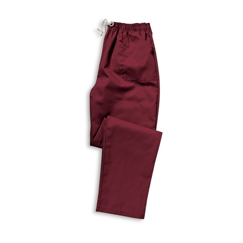 Smart Scrub Trousers (Maroon) - UB453