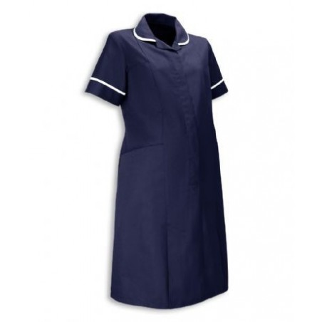 Maternity Dress (Navy With White Trim) - NF53