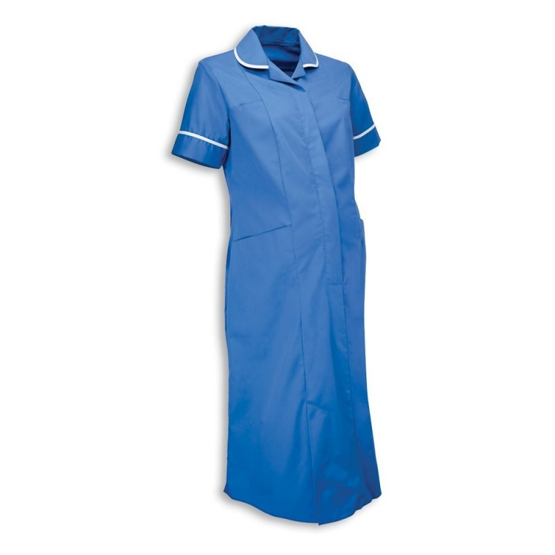 Maternity Dress (Hospital Blue With White Trim) - NF53
