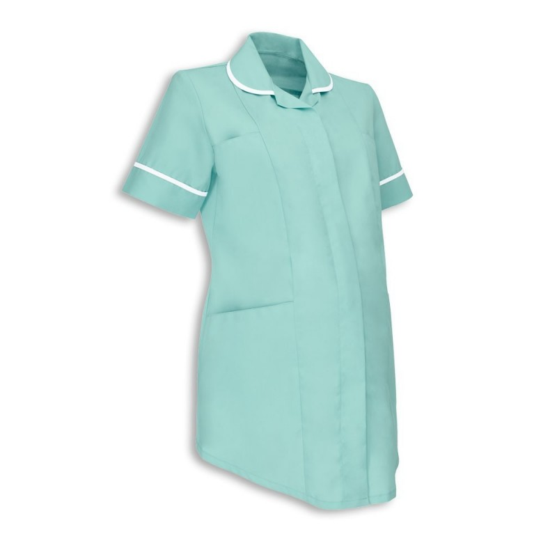 Maternity Tunic (Aqua With White Trim) - NF52