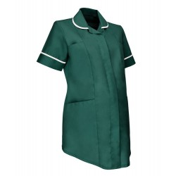 Maternity Tunic (Bottle Green with White Trim) - NF52