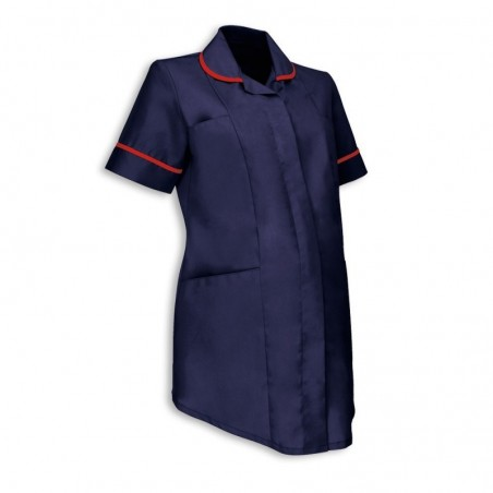 Maternity Tunic (Sailor Navy With Red Trim) - NF52