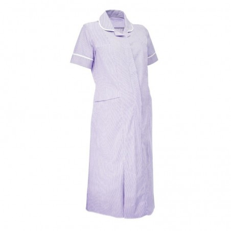Maternity Stripe Dress (Lilac With White Trim) - NF56