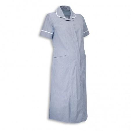 Maternity Stripe Dress (Navy With White Trim) - NF56