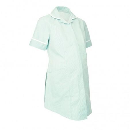 Maternity Stripe Tunic (Aqua With White Trim) - NF55