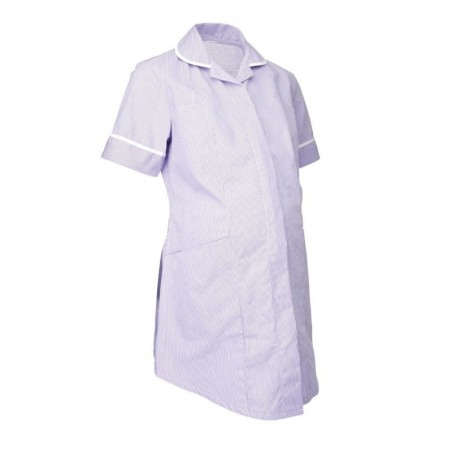 Maternity Stripe Tunic (Lilac With White Trim) - NF55