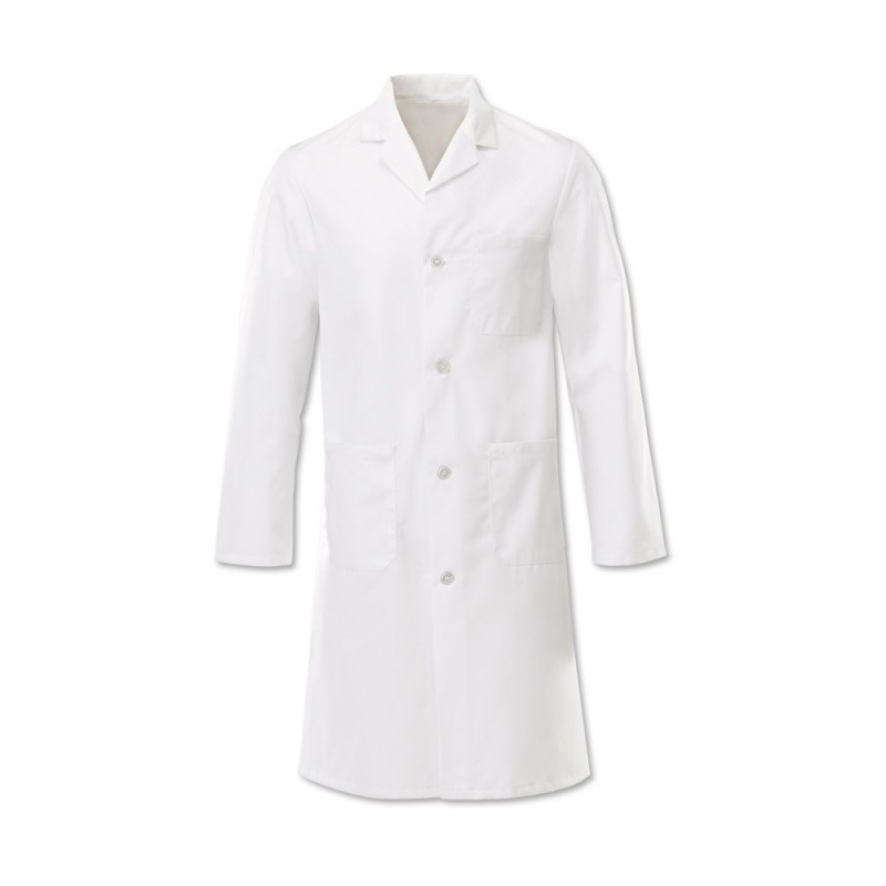 Men's Button Coat (White) - W21