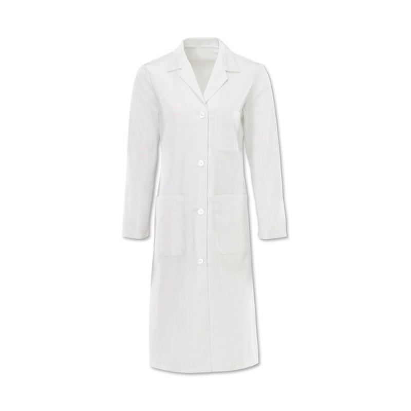 Women's Button Coat (White) - W27