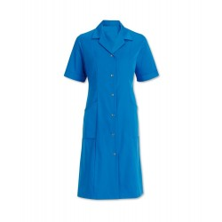 Women's Short Sleeved Coat (Hospital Blue) - W63