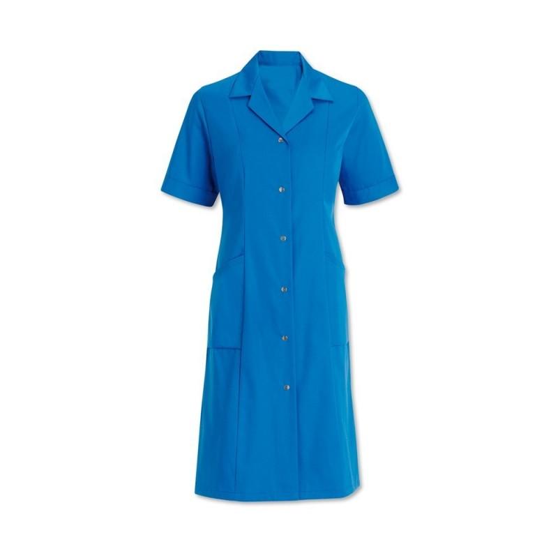 Women's Short Sleeved Coat (Hospital Blue) - W63