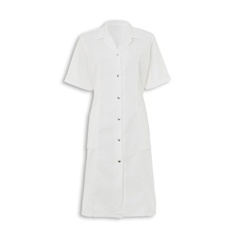 Women's Short Sleeved Coat (White) - W63
