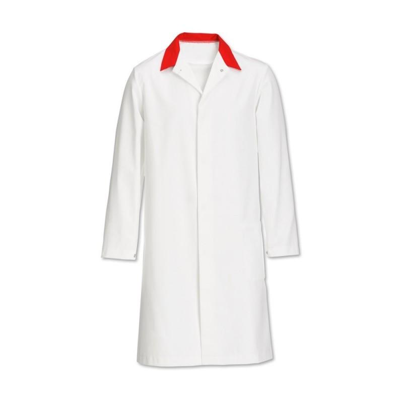 Men's Coat (White/Red) - FT30