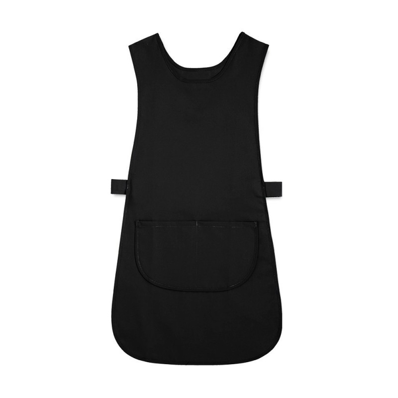 Long Length Tabard with Pocket (Black Pack of 3) - W193