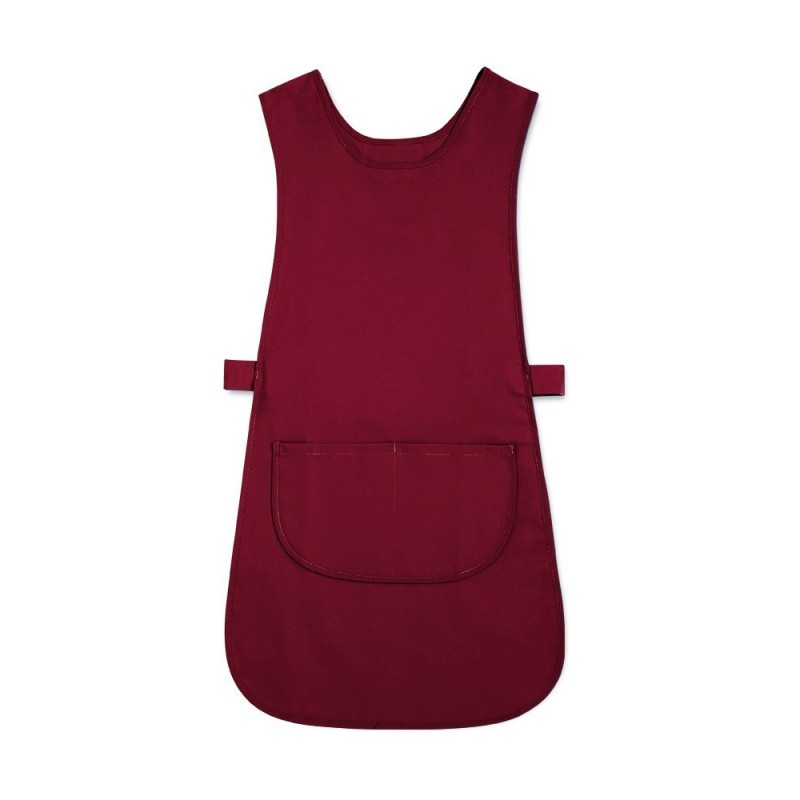 Long Length Tabard with Pocket (Burgundy Pack of 3) - W193
