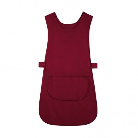 Long Length Tabard with Pocket (Burgundy Pack of 1) - W193
