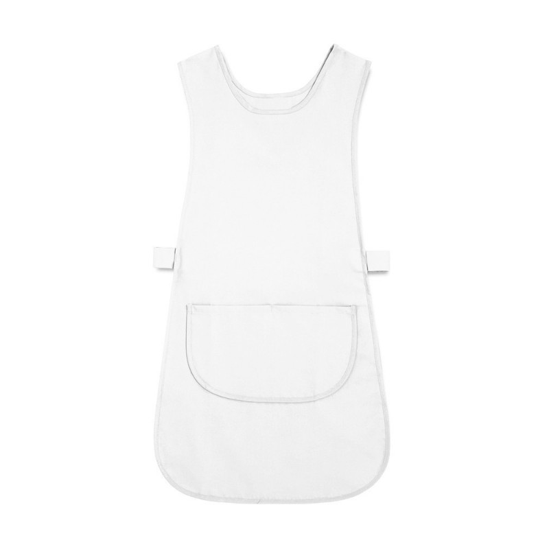 Long Length Tabard with Pocket (White Pack of 3) - W193
