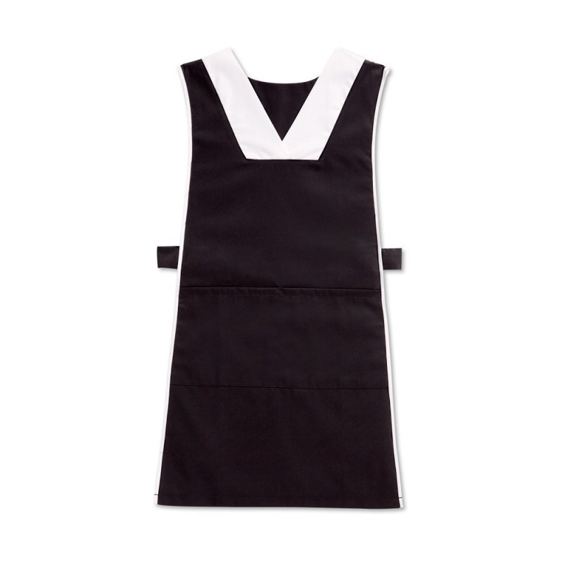 V-neck tabard (Black & White) - NW98
