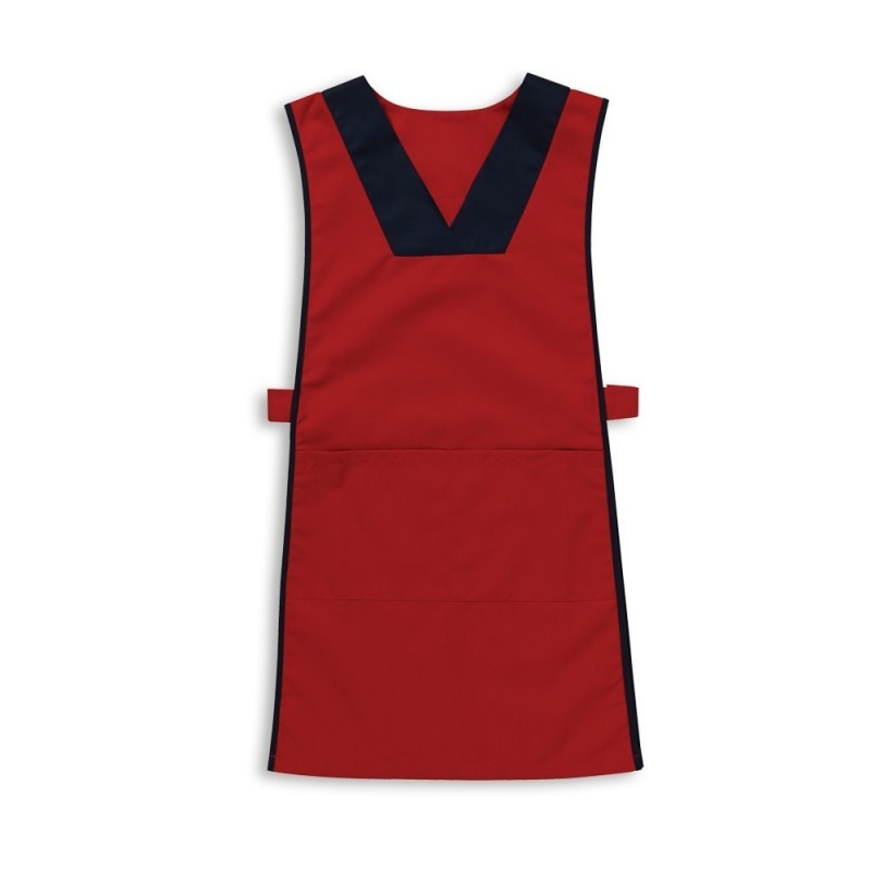 V-neck tabard (Red & Navy) - NW98