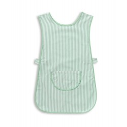 Thin Stripe Tabard with Pocket (Aqua & White Pack of 1) - W240